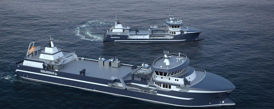 Slik blir de to brønnbåtene som Cemre skal bygge for Seistar og som er designet av SALT Ship Design. Illustrasjon SALT/CEMRE