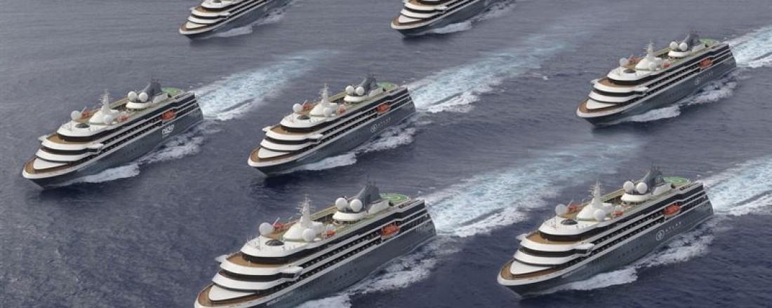 Kongsberg Maritime skal levere hovedmotorer, elektrosystemer og mye annet til det portugisiske verftet WestSea, som skal bygge tre nye ekspedisjonsskip. Ill: WestSea/Kongsberg