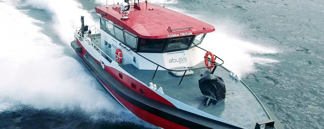 Den nye båten som Abyss Aqua har bestilt av Maritime Partner er en Alusafe 1500 LDV. Den er i hovedtrekk lik Fosna Triton som ble levert til Abyss Aqua i mai 2016. Foto: Maritime Partner
