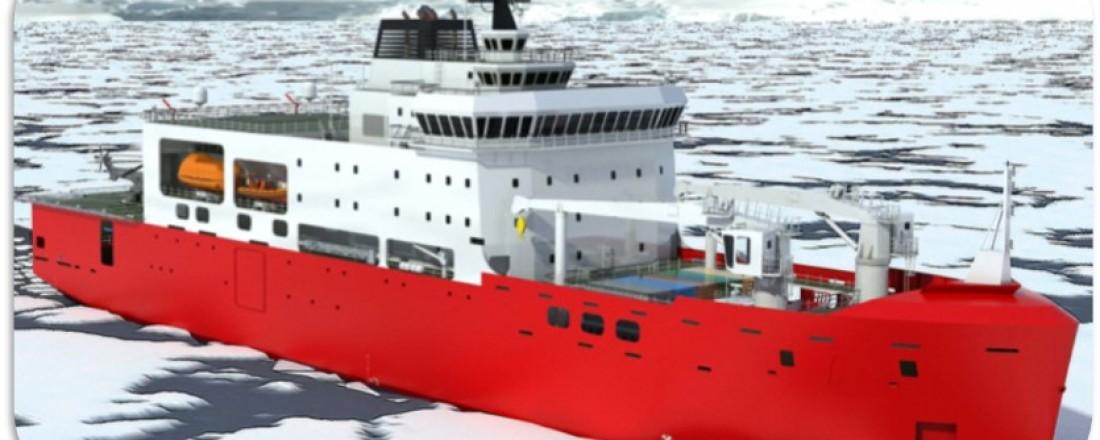 Ulmatec Pyro skal levere sitt WEMS-system til en isbryter som bygges av chilenske Asmar. Illustrasjon: Asmar Shipbuilding & Ship Repair