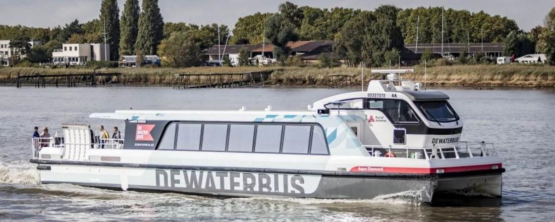 Echandia leverer batterisystemer til Rotterdams nye elektriske ferjer. Illlustrasjon: Damen.