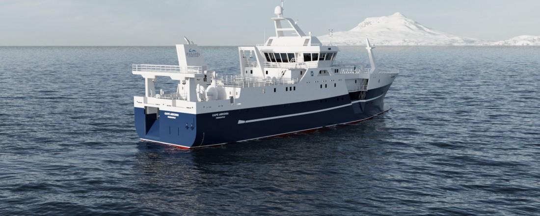 Båtbygg AS bygger kombibåten til Austral Fisheries. Ill: Skipskompetanse/Baatbygg