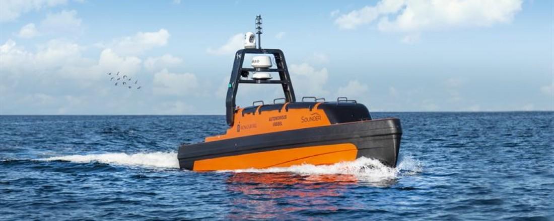 Fjernstyrt farkost (AUV) med sonarer. Illustrasjon: Kongsberg Maritime.