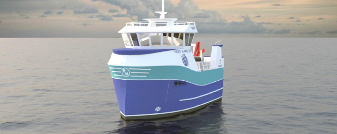 Rederiet Hawi håper på positivt svar fra Enova for å kunne bygge det de selv regner som en revolusjon innen fiskeriflåten. Illustrasjon: Båt og Motorservice.