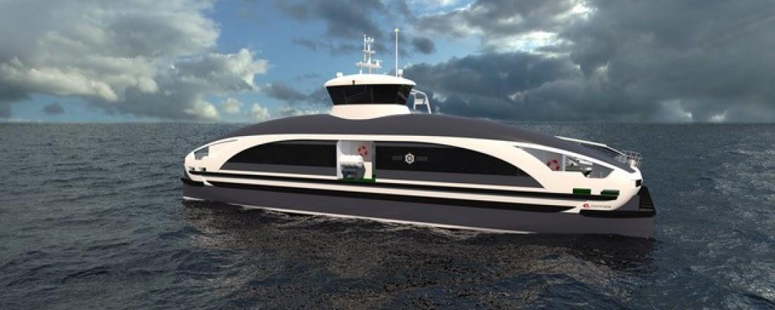 Bostek leverer batterifremdrift til den nye batteriferja fra Måløy Verft. Ill: Måløy Verft/Easy Form/ Vidar Hop Skyssbåtar