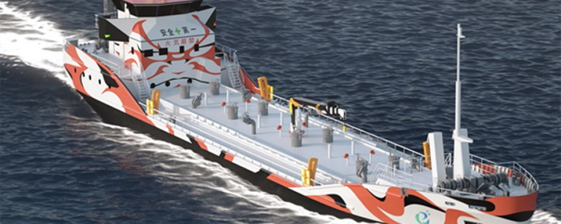 Corvus Energy har allerede signert den første store ordren i Japan for leveranse av Corvus batteri systemer til verdens første hel-elektriske tankbåt som er under bygging for det japanske rederiet  Asahi  Tanker. Foto: E5 Lab Inc. .