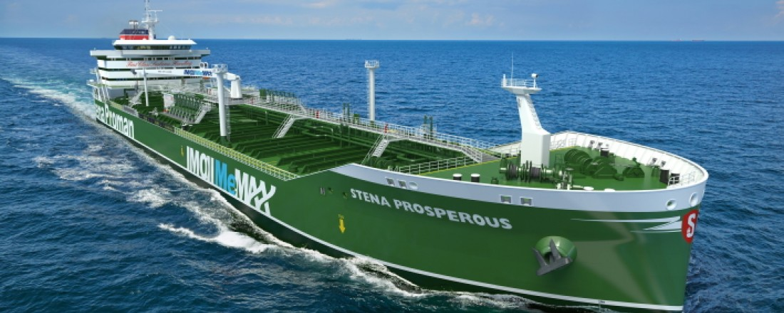 Stena Prosperous will be methanol-powered. Photo: Proman Stena Bulk