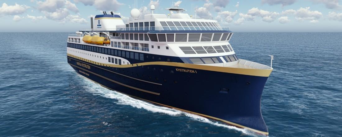 Tersan og Barreras skal bygge de fire skipene til Havila Kystruten. Illustrasjon: BowVision