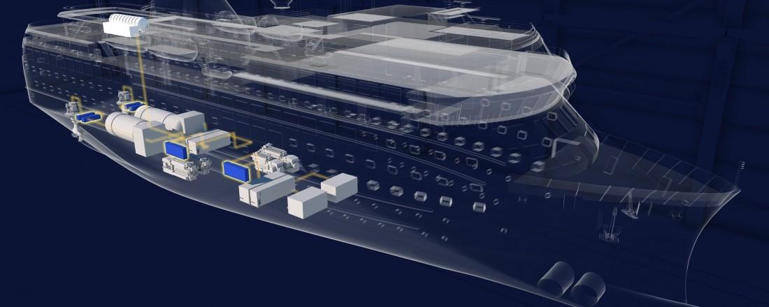Virtuell prototyping og simulering av de ulike skipsløsningene er en sentral del av FoU-programmet. Illustrasjon: Havyard