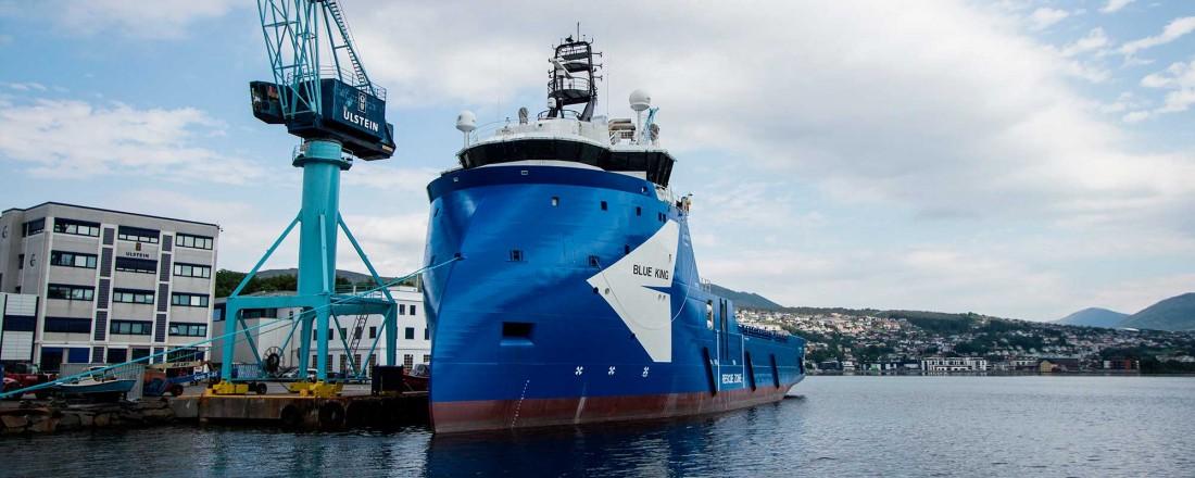 Rederiet Sverre Farstad & Co har overtatt PSV-en Blue King. Foto: Ulstein