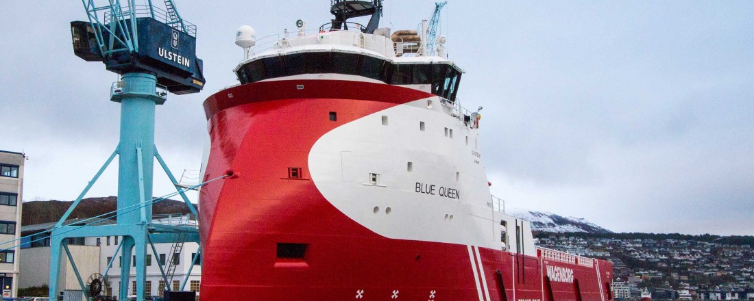 Blue Queen skal på seksårskontrakt i Nordsjøen. Foto: Wagenborg/Ulstein