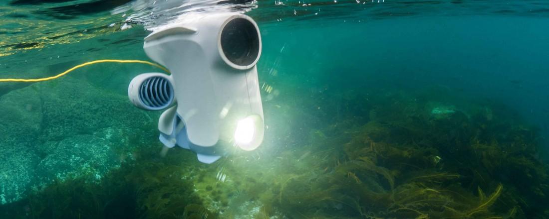 Blueye Pioneer har som droner flest et marked for både profesjonelle og vanlige nysgjerrige brukere, skriver juryen om Blueye Robotics sin undervannsdrone. Foto: Blueye Robotics