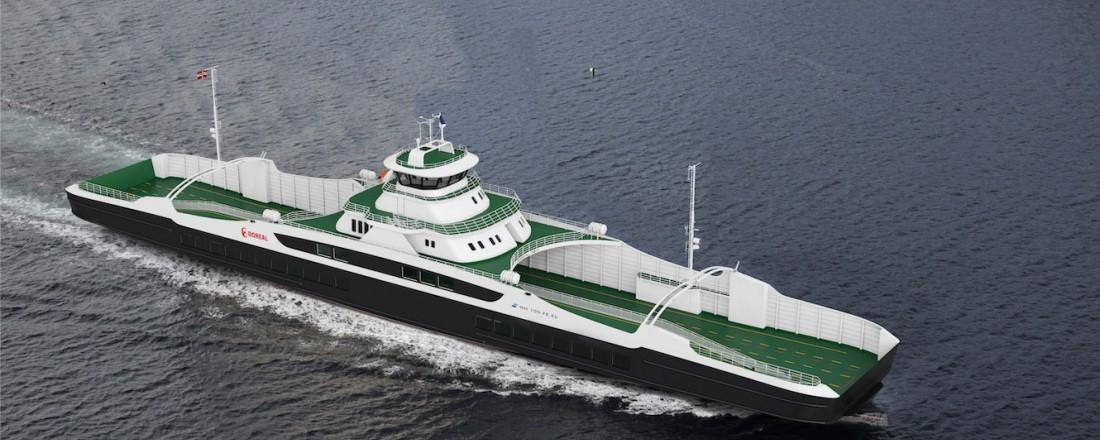 Boreal Sjø har kontrahert sin tredje ferje med design MM 105 FE EL hos Multi Maritime. Illustrasjon: Multi Maritime