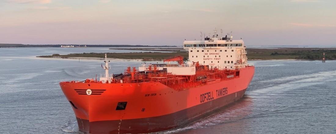Odfjells Bow Orion er kåret til Tanker Ship of the Year 2019. Foto: Odfjell