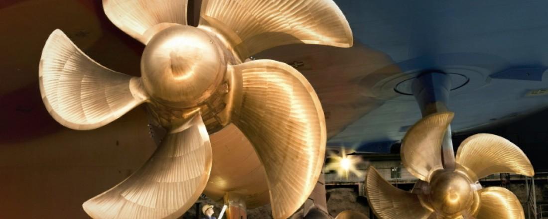 Azipod propulsion for cruise vessels. Photo: ABB