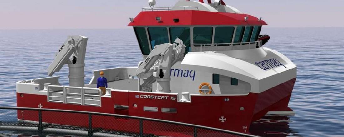 Salthammer Båtbyggeri skal bygge en ny Coastcat 15, som er tegnet og utviklet av Tomra Engineering AS i Tomrefjord.