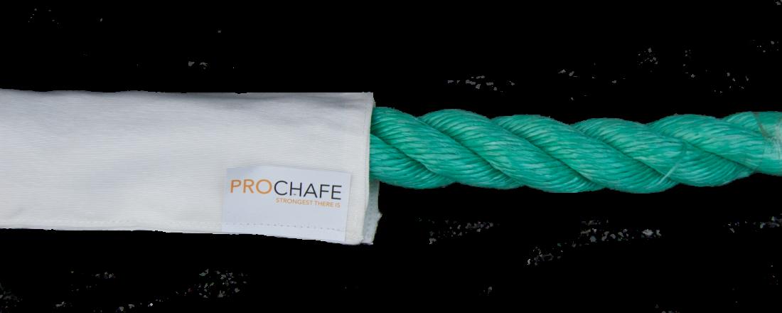 ProChafe sine beskyttelseskapper skal forlenge levetiden til tau, hydraulikkslanger, kjetting og lignende. Foto: ProChafe