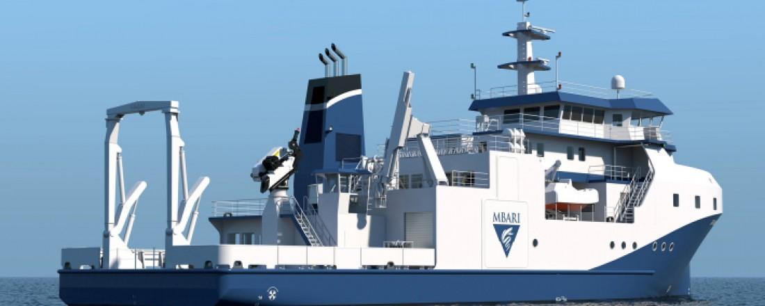 ABB fremtidssikrer bærekraftig drift av havforskningsfartøy i California (Foto Glosten © 2021 MBARI).