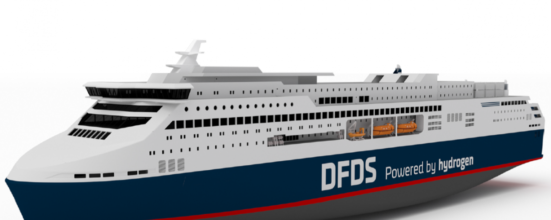 The ferry that has the working name Europa Seaways. Ill: DFDS/ Knud E. Hansen.