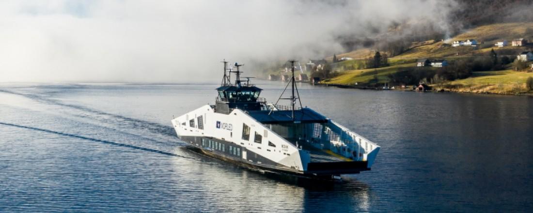 Norled har fått enda et moderne nullutslippsfartøy i porteføljen. Foto: Westcon/ Økland foto