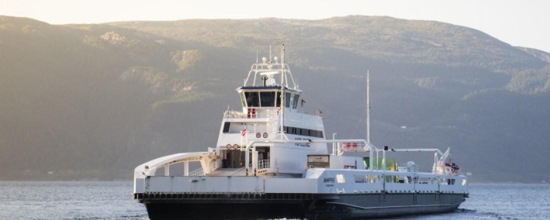 Ampere med elektrisk fremdrift var den første av en rekke ferjer med ny teknologi. Nå skal norske redere ta ledeskap i kampen mot klimautfordringene. Foto. Enova.