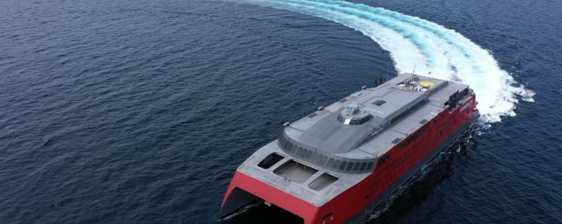Telenor Maritime will deliver 3G/4G mobile systems for Fjord FSTR and Fjord Line's other vessels. Photo: Austal Philippines Pty/Fjord Line