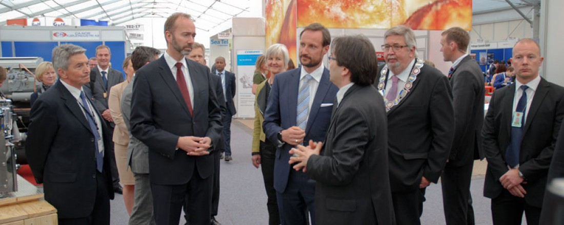 Kronprins Haakon og næringsminister Trond Giske