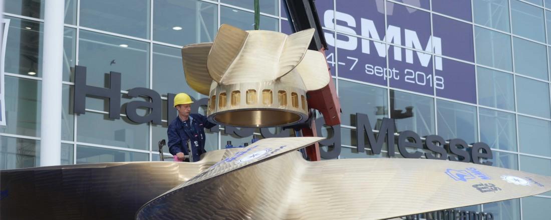 SMM er blant verdens største messearrangement, og et av høydepunktene for den maritime industrien. Foto: Hamburg Messe und Congress/Hartmut Zielke