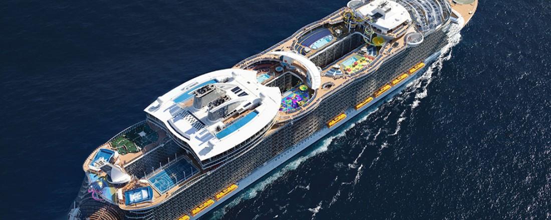 Ett av nybyggene blir i samme klasse som nylig leverte Harmony of the Seas. Foto: RCL