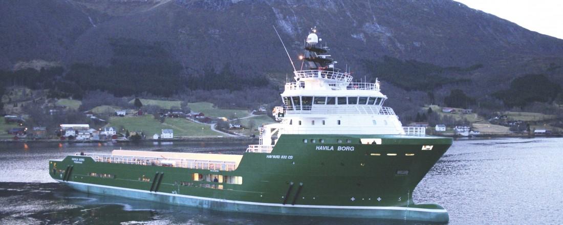 Arkivbilde av Havila Borg fra da skipet ble levert i 2010. Foto: Havyard