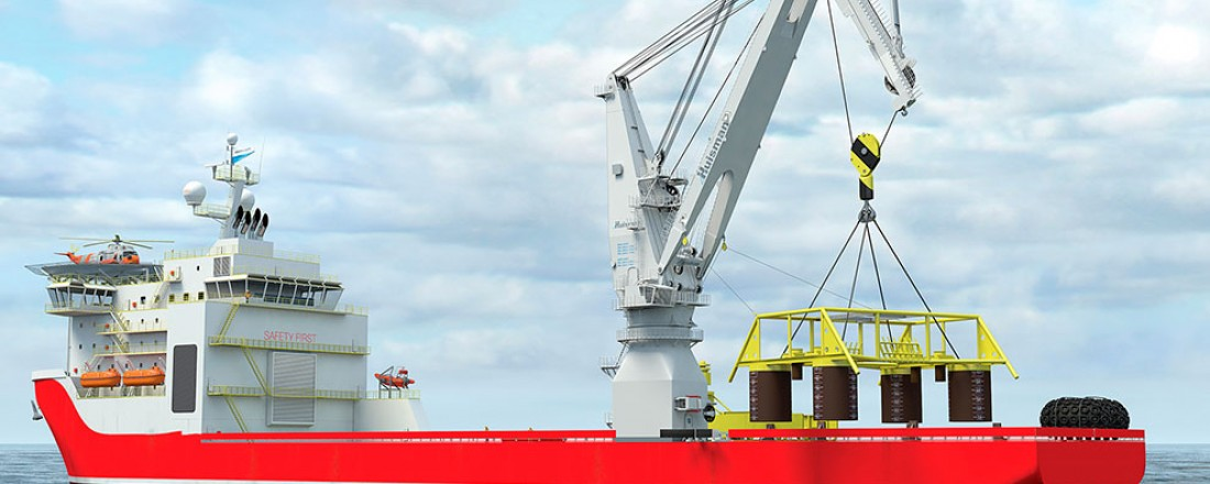 Rope Luffing Knuckle Boom Crane