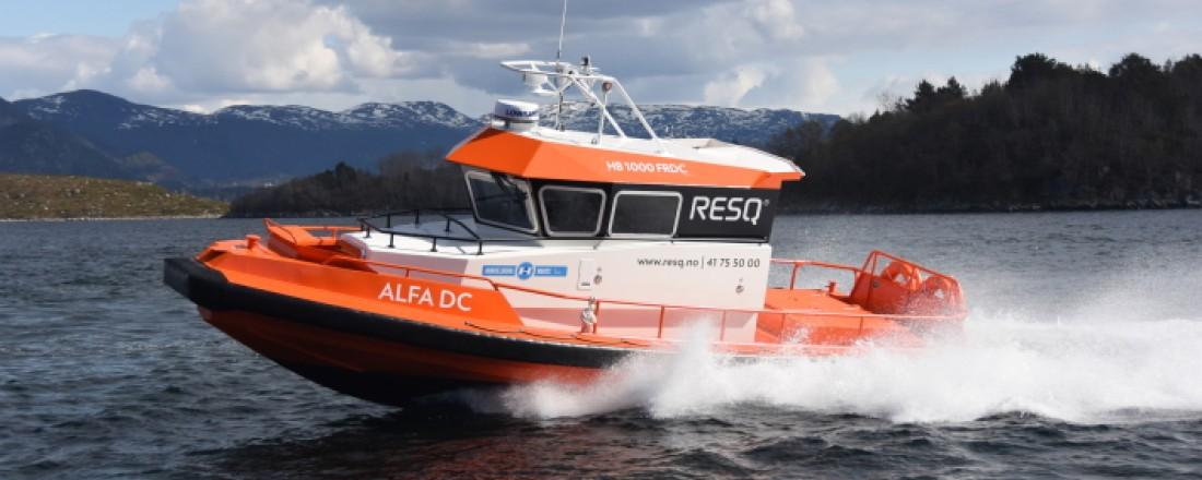 ALFA DC i 30 knop - manøvreringsdyktig og robust redningsbåt. Foto: Hukkelberg Boats