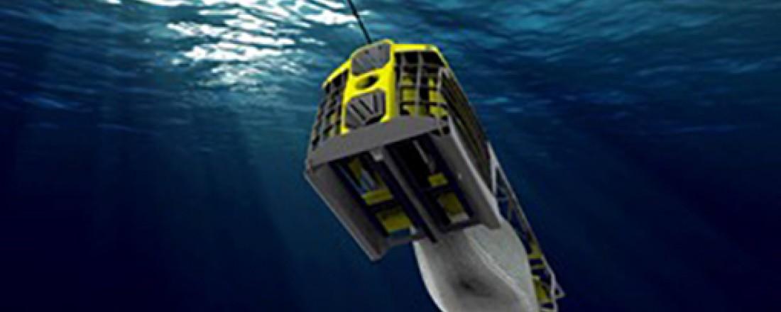 «Humla» er en TAUV (Towed Autonomous Underwater Vehicle) som slepes etter tråleren via en sondekabel. Illustrasjon: Stø Technology.