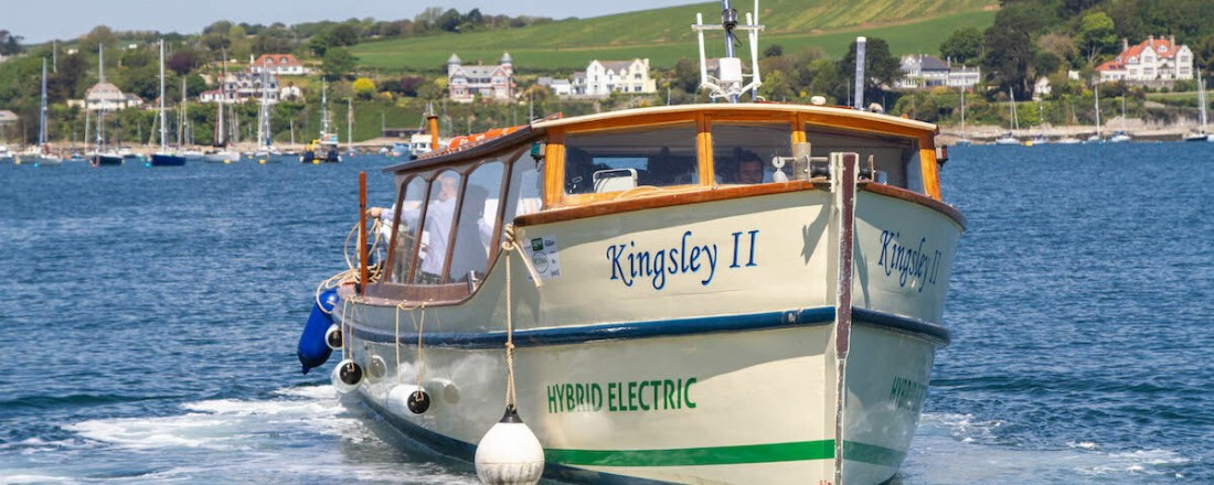 """The classic wooden ferry """"Kingsley II""""was originally built in 1934.  Photo: Fal River Cornwall"""