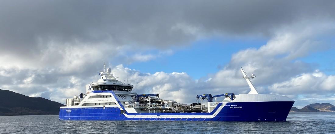 The Ro Vision hybrid live fish carrier. Illustration:  Skipskompetanse AS