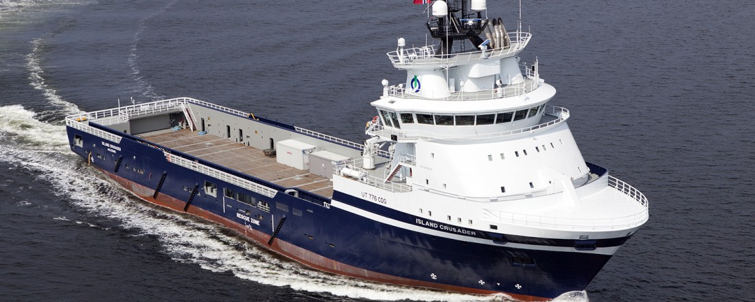 Island Crusader er det første av tre skip frå reiarlaget som får batteripakke. Foto: Island Offshore
