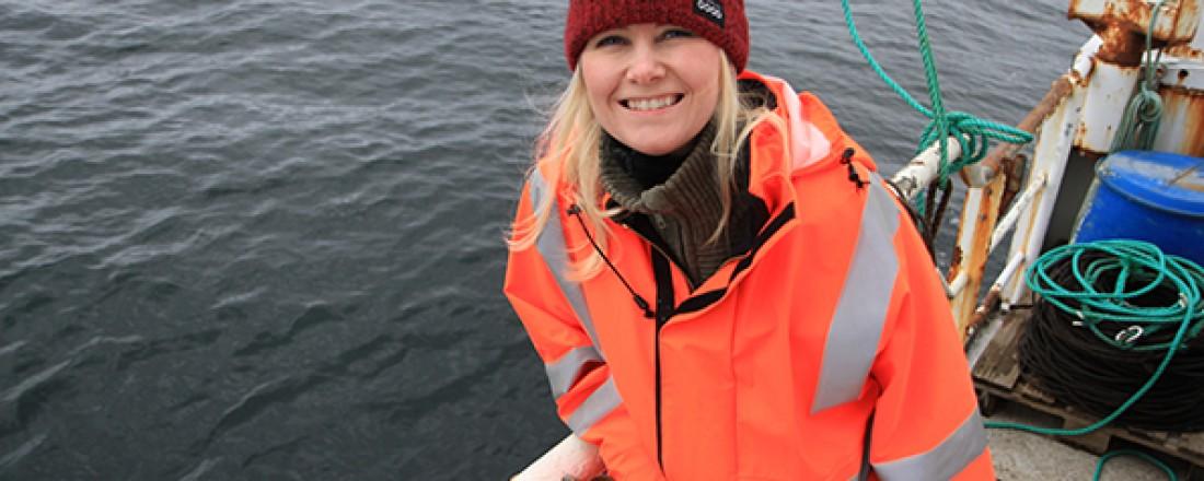 Linn Solveig Sørvik under testing av Sago Extreme nye linesystem. Foto: Norfishing