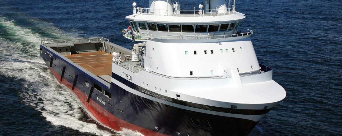 Island Commander er eit av fleire skip som er sikra langvarig arbeid. Foto: Island Offshore