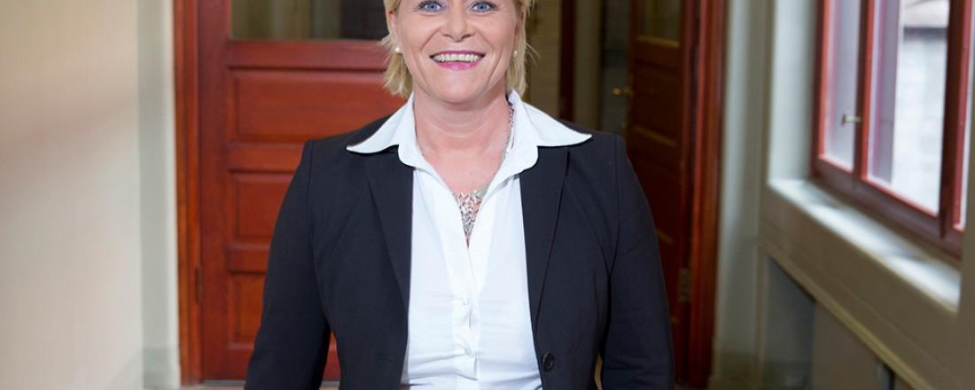Finansminister Siv Jensen