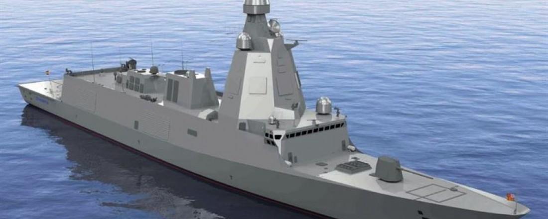 F110-fregattene til den spanske marinen skal utrustes med fremdriftssystem fra Kongsberg Maritime. Ill: Navantia