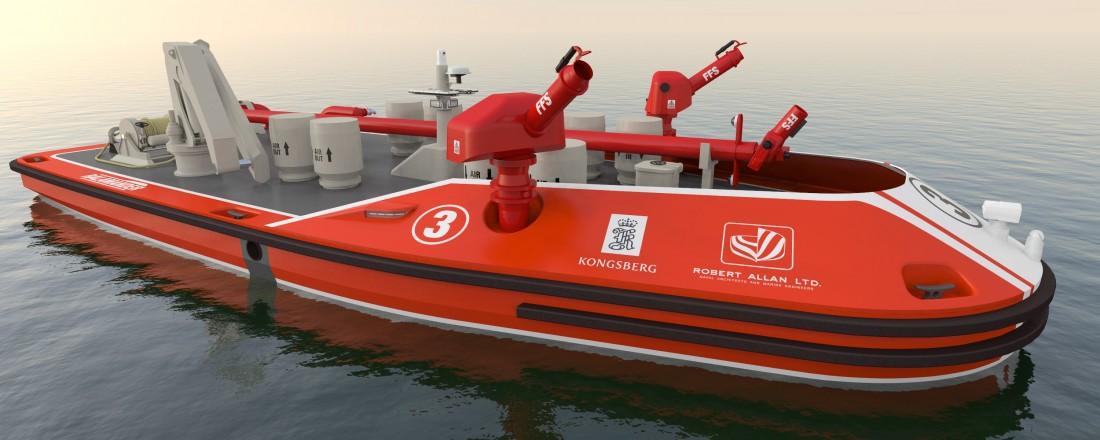 RALamander 2000 fra Robert Allan Ltd., med kontroll- og kommunikasjonssystem fra Kongsberg Maritime. Illustrasjon: Robert Allan Ltd./Kongsberg