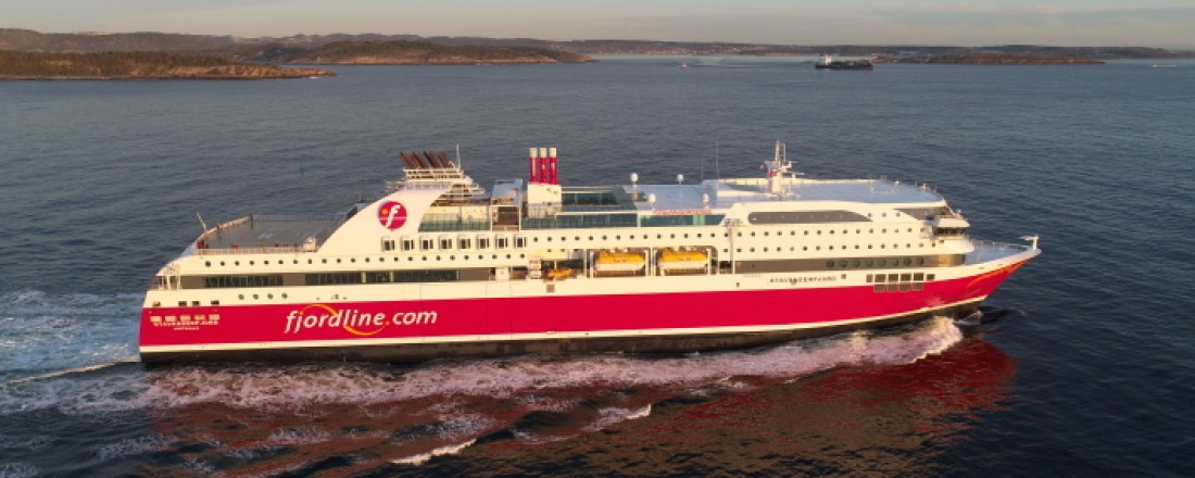 Fjord Lines Stavangerfjord.  Rederiet forbereder nå kraftige kostnadskutt. Foto: homas Østberg-Jacobsen/Ford Line.