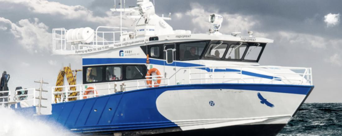 «Frøysprint» var en av de første båtene som ble revidert av Aquastructures. Foto: Frøy.