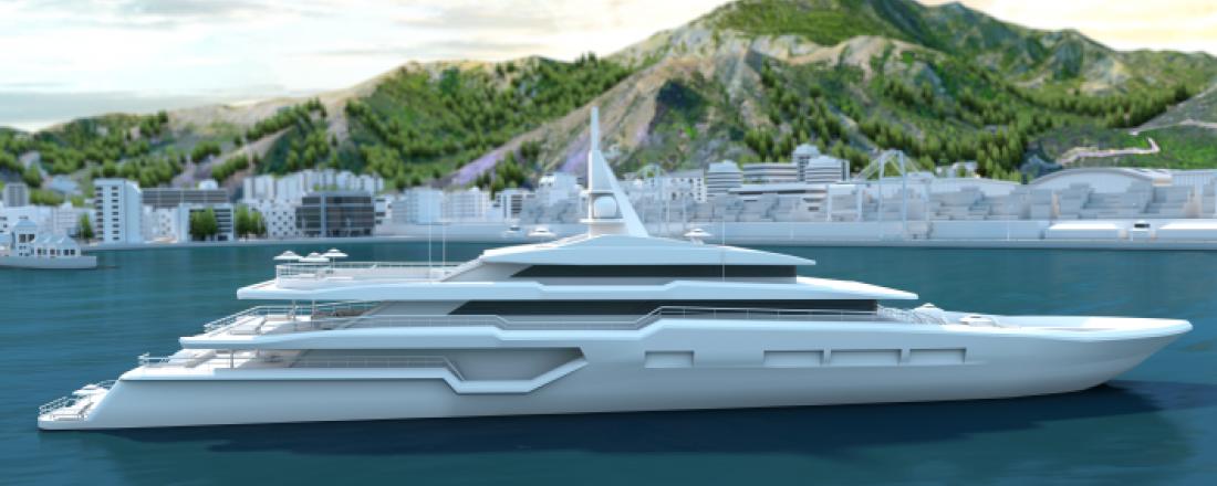 Superyachten får økt bærekraft, komfort og manøvrerbarhet med ABB Azipod. Illustrasjon: ABB