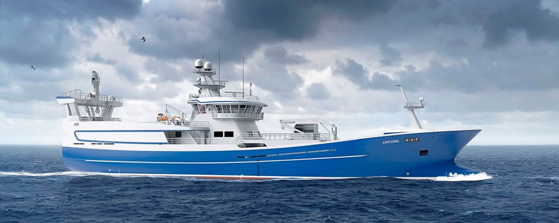 Nye Liafjord planlegges levert fra Cemre-verftet i 2023. Illustrasjoner: Salt Ship Design