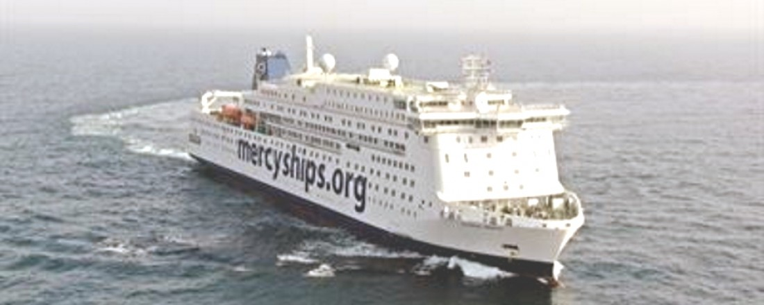 Global Mercy during the sea trial. Photo: Stena RoRo