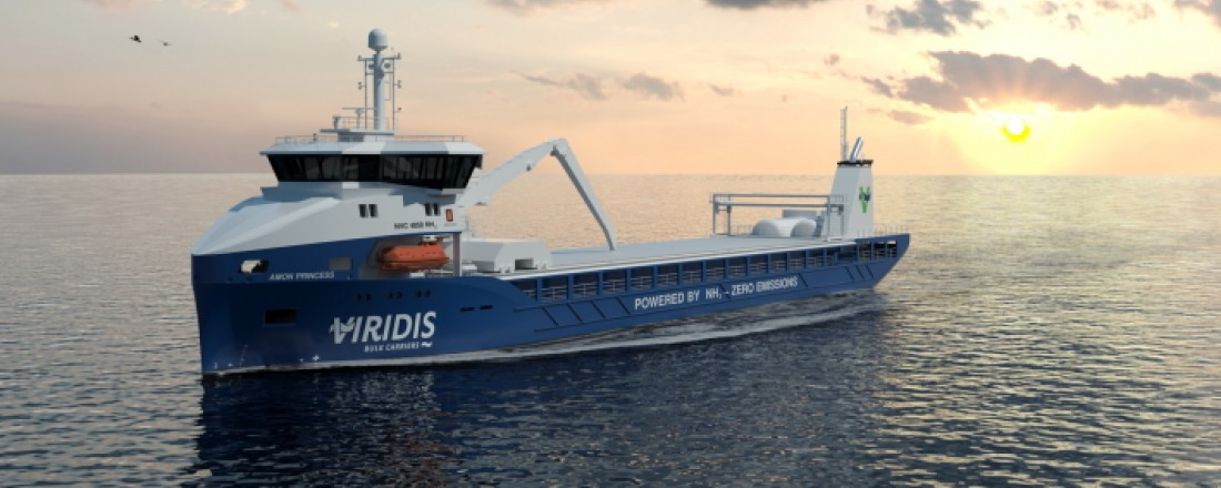 skisser forfra - Illustrasjon: Kongsberg Maritime/Viridis Bulk Carriers