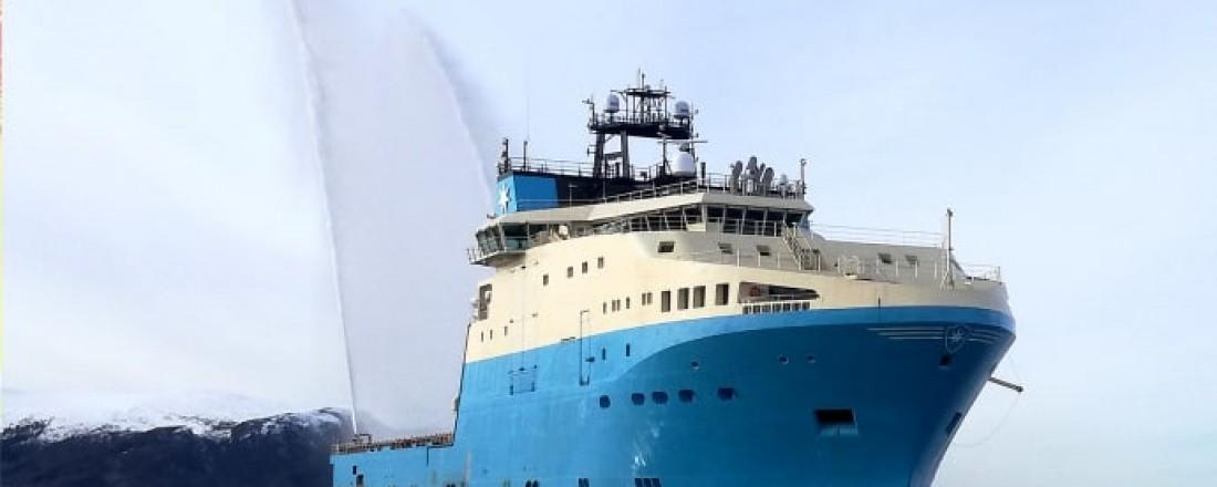 Maersk Minder ble overlevert og døpt 31. mai. Foto: Kleven