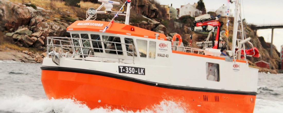 Malo-sjarken Malangsfjord er den største som er levert fra anlegget på Sørholmen i Kristiansund. Foto: Jemar Norpower.