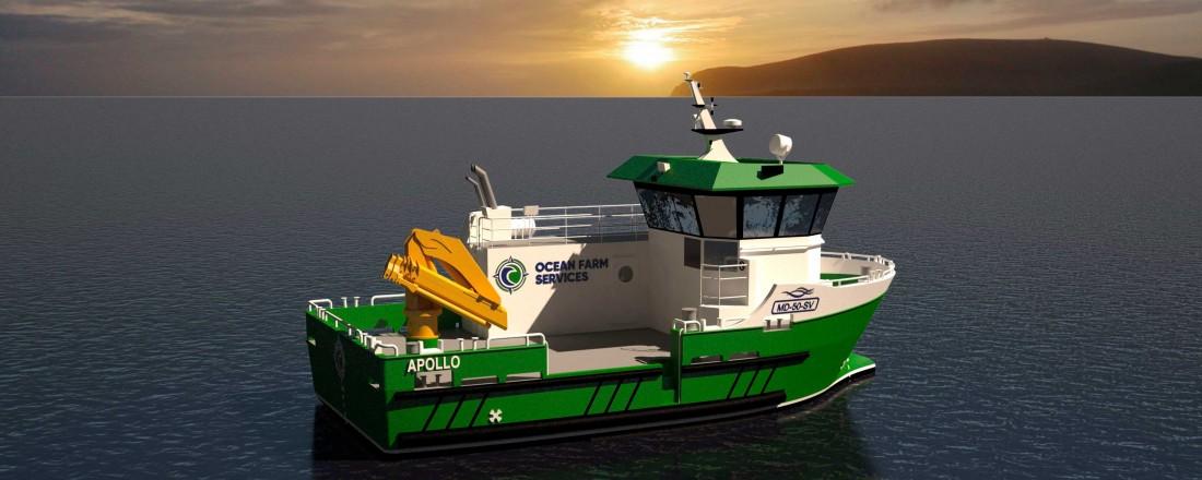 Stamas Yard Services skal bygge sin båt nummer en til et selskap fra Shetland. Illustrasjon: Marin Design